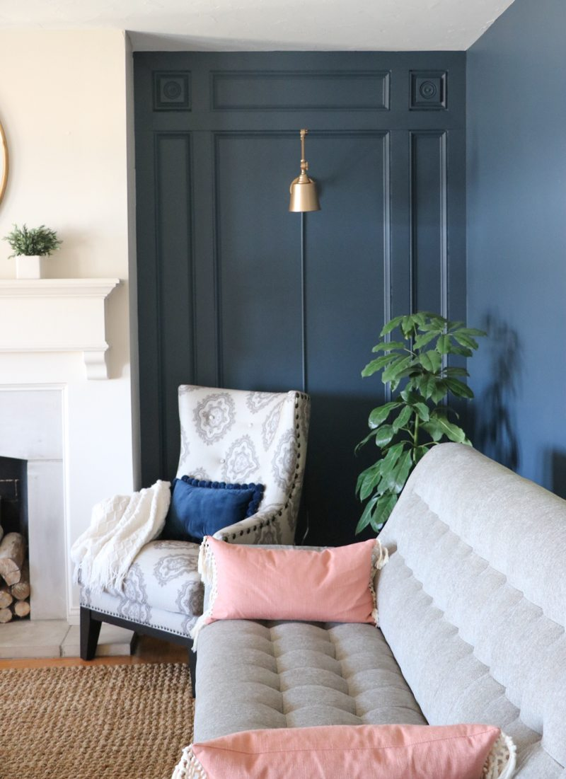 DIY Elegant Paneled Wall with Remodelaholic