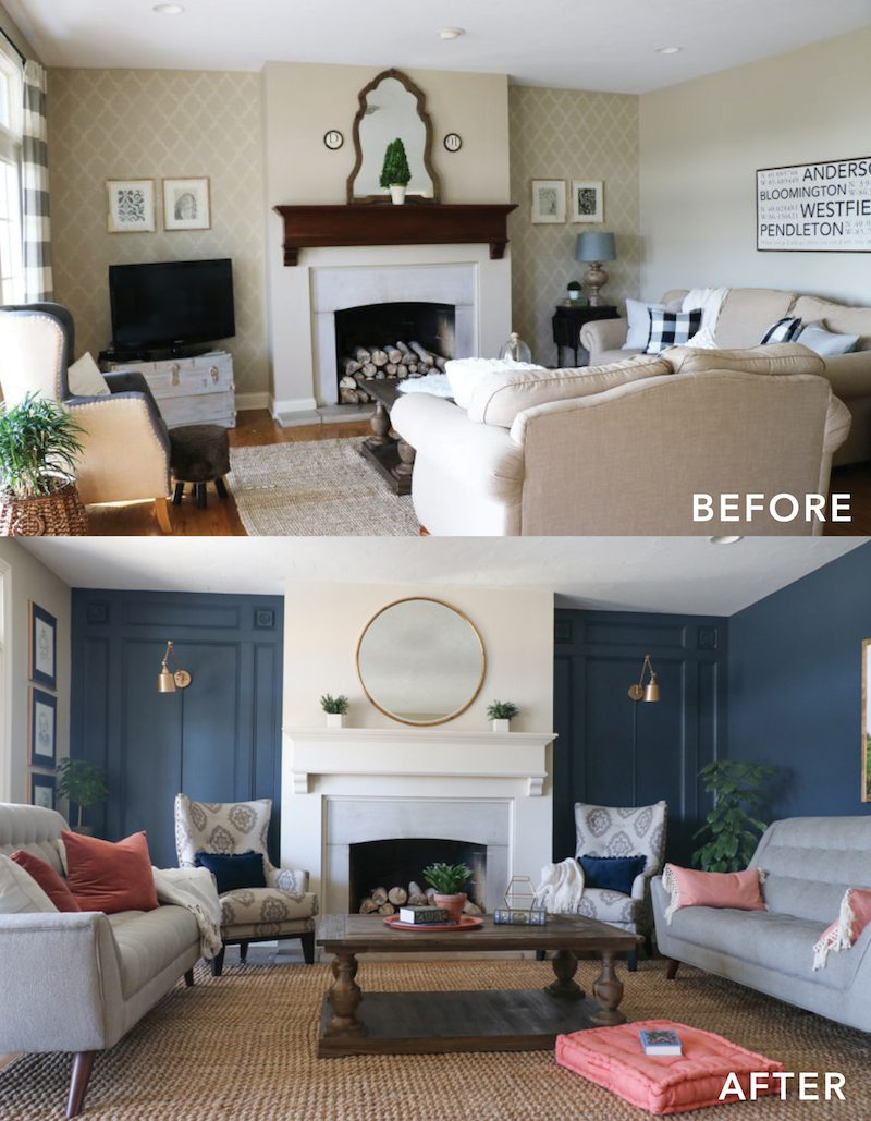 Living room makeover with the roomplace sincerely sara d - Living room makeover ideas ...