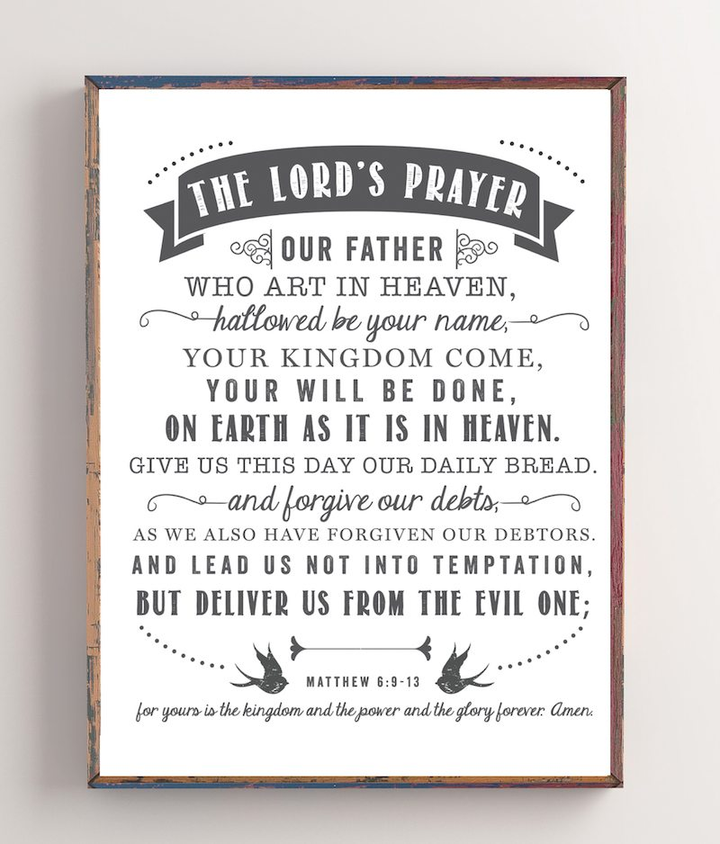 The Lord's Prayer | Free Printable