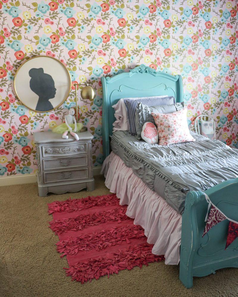 Lena's Bedroom Makeover | Floral Wallpaper