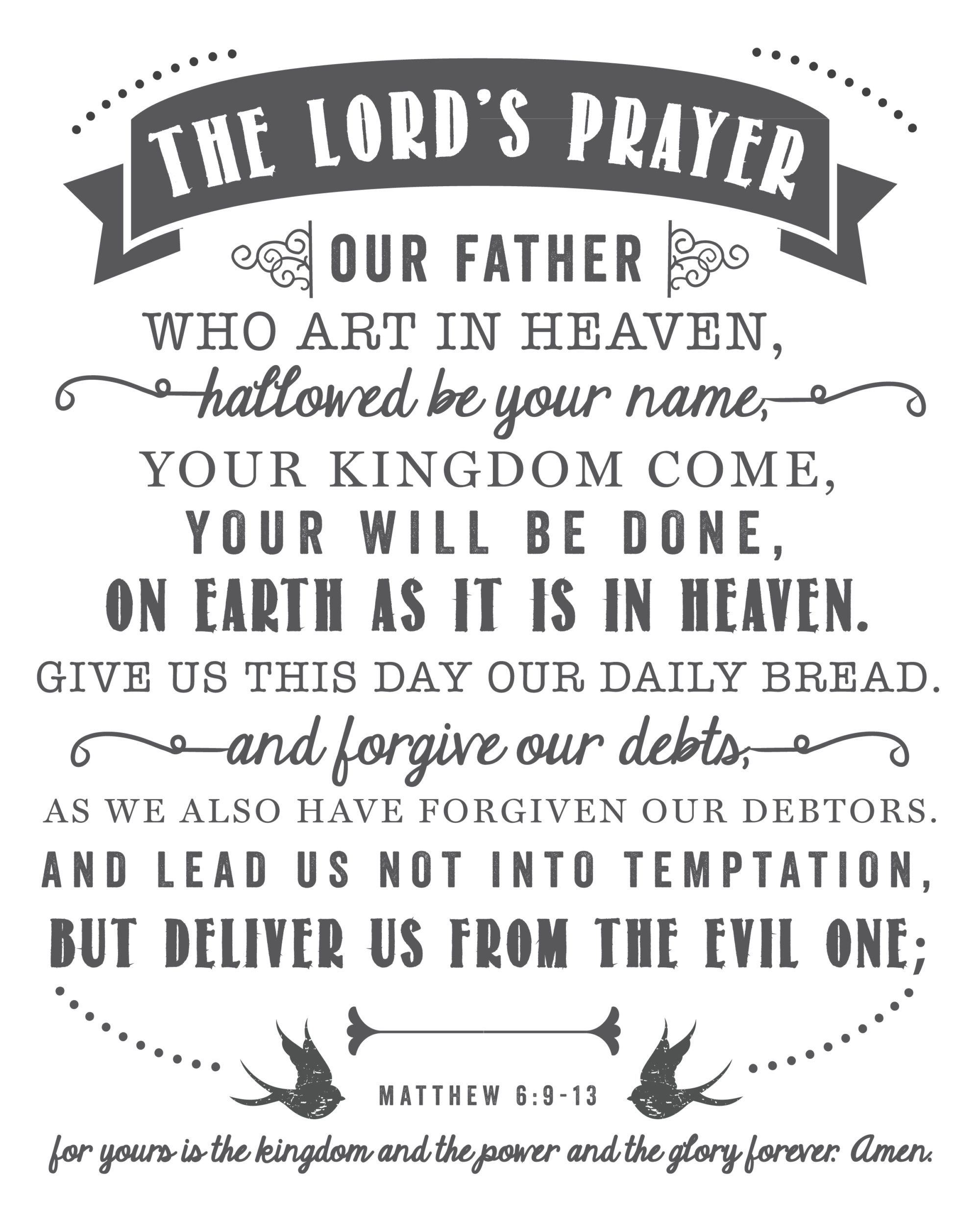 The Lordu0026#39;s Prayer : Free Printable : Sincerely, Sara D.