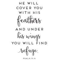 Psalm 91:4 | Free Printable