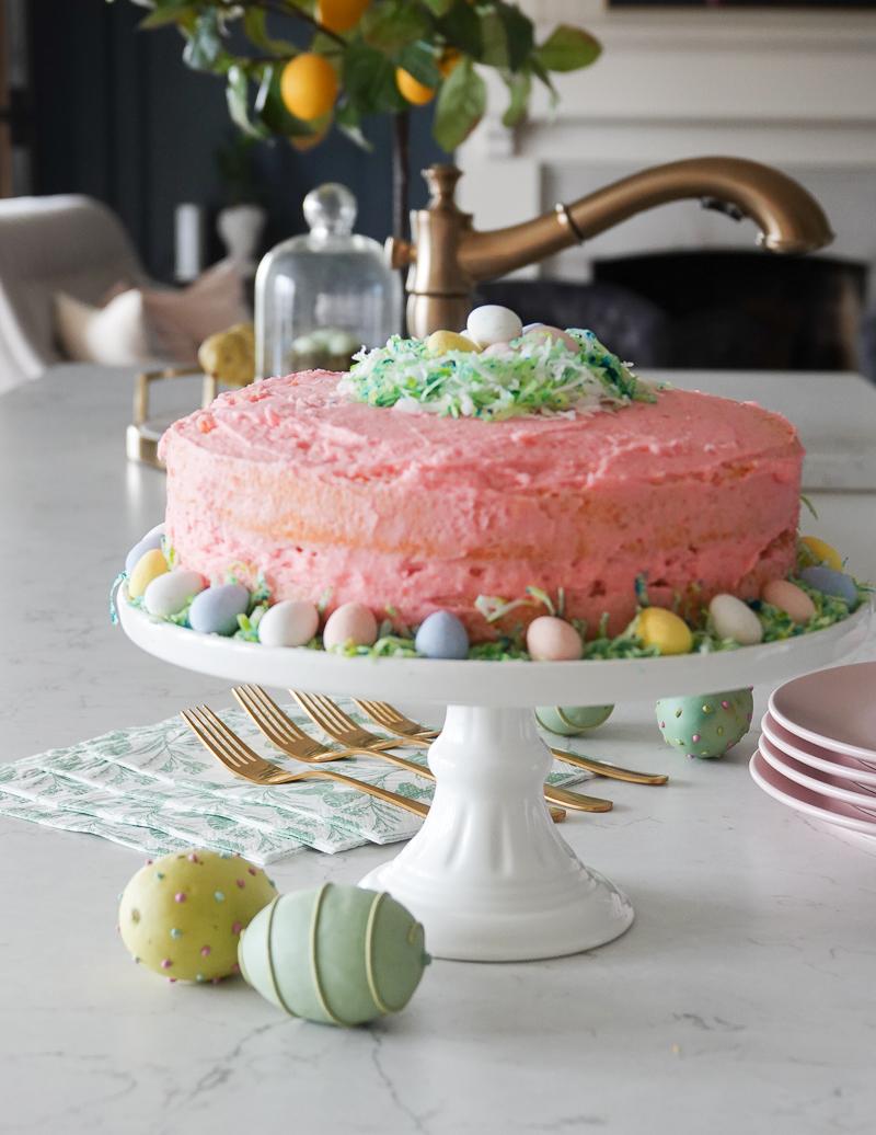 Easy Easter Cake Decor